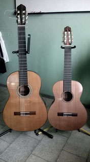 Guitarra (izq.) y requinto