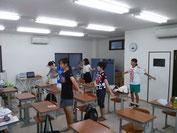 6:30開校のときは、ラジオ体操から1日が始まりました。