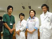 (左から)稲垣、神戸、田中、玉井