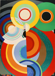 Sonia Delaunay, Automne, 1965, lithographie en couleurs, collection musée des beaux-arts de Brest métropole.