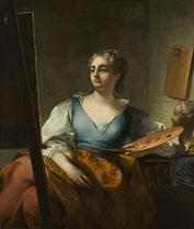 Jean Raoux, Allégorie de la peinture, vers 1723, huile sur toile, collection musée des beaux-arts de Brest métropole.