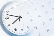 Uhr und Kalender