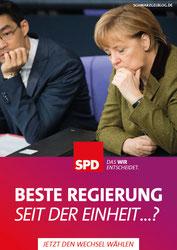Hilfreich? SPD Wahlplakat mit Angela Merkel