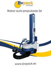 Robot_envolvedor_de_palets. Robot_enfardador_de_palets. Envolvedora_movil_de_palets.