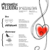 Flyer: alternative wedding Hochzeitsmesse