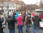 Weimar Bratwurstessen der Gruppe