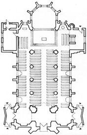 Grundriss der Kirche St. Vitus - Foto: HPD