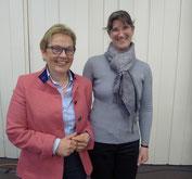 Dr. Ronja Westpfahl (re) und Anke Carstensen, unsere Kassenwartin (Foto: Dorit Hartz)