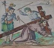 III Estación, Jesús cae por primera vez