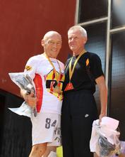 Pierre Sablé (à gauche) en 2017 avec André Perreau