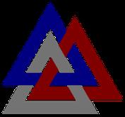Walknoten: Sinnbild der neun miteinander verbunden Welten. Wird von einigen Asatru-Anhängern als Symbol verwendet.