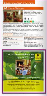 publicité 1/2 page - Guide restaurants 2015 Pays de Bergerac