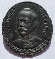 Kappenabzeichen mit dem Bildnis von Boroević.