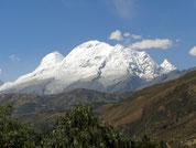 Der Huascaran, höchster Berg Perus, bei Huaraz