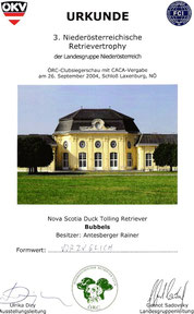 3. Niederösterreichische Retrievertrophy des ÖRC/Landesgruppe NÖ am 26. Sep. 2004 bei Schloß Laxenburg