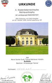 4. Niederösterreichische Retrievertrophy des ÖRC/Landesgruppe NÖ am 2. Okt. 2005 bei Schloß Laxenburg