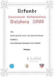 Internationale  Rassehundeschau  Jubiläumsausstellung - 100 Jahre  Kynologischer Verein  für das Land Salzburg am 13. Mai 2006 Messezentrum Salzburg