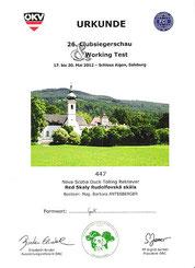 26. Clubsiegerschau des ÖRC am 17. Mai 2012 bei Schloß Aigen/Salzburg
