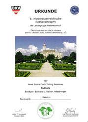 5. Niederösterreichische Retrievertrophe des ÖRC/Landesgruppe NÖ am 1. Okt. 2006 bei der Schallaburg