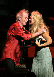 Keith Richards & Wendy Oxenhorn