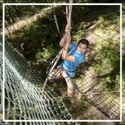 Parc d'aventures en forêt valloire saut de tarzan