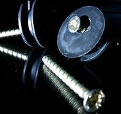 Exzenter-Scheibe mit Spezialschraube passend zu Bildauhänger Metall
