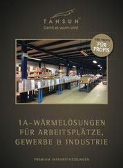 Heizstrahler Prospekt für Gewerbe und Industrie
