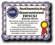 Eqsl Authenticity Guaranteed Iw5csj