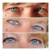 Nachziehen der beiden Eyeliners