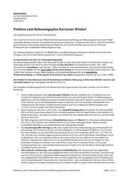 Petition zum Bebauungsplan Winkel Seite 1