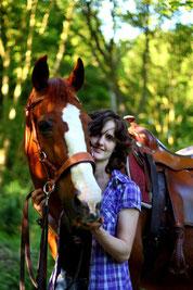 Natascha mit Pferd Remus