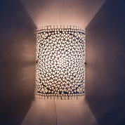 Oosterse mozaïek wandlampen, Oosterse filigrain hanglamp, Oosters interieur