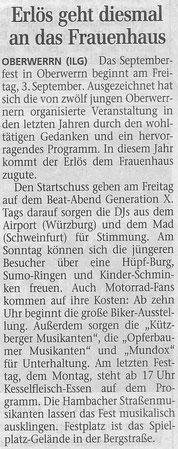 01.09.2004 Schweinfurter Tagblatt