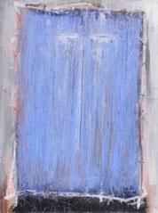 Lichtblaue Ikone, Mischtechnik auf Leinwand, 60 x 80 cm, 2006