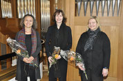 v.l. Sybille van Veen, Judith Raeber und Rosmarie Kälin-Mortensen