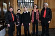 Organisten-Vokalquartett mit Roman Künzli (Mitte)