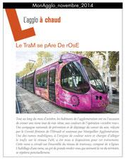 Le tram se pare de rose