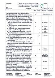 Check-Liste Umwandlung Projekt BAUM in eine Schülergenossenschaft