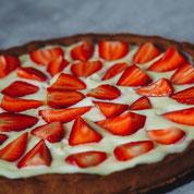 zuckerfreier Erdbeer-Käsekuchen ohne Zucker