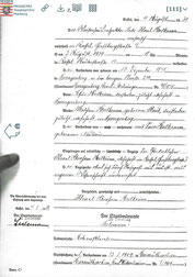 cerificate of death for Levi Heilbrunn