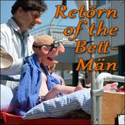 Figur im rollenden Krankenbett: Bett-Män