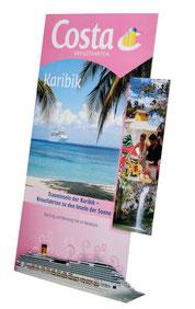 Pappaufsteller Urlaub Werbung