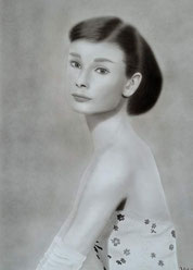 Audrey Hepburn - Acryl auf Karton-90-65cm - 2013