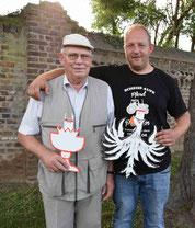 v. l. Helmut Pohl, Patrick Simons