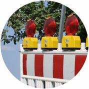 Baustellenlicht, Kontrolle, Ampel, SDS Sicherheitsdienst