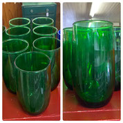 Green Roly Poly Glasses Set of Seven $25.00