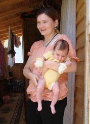 Melisa Kapic mit dem Baby