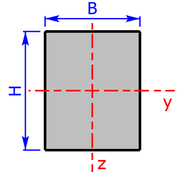 cross sectional area of a rectangle-section