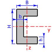 Querschnitt eines C- bzw. U-Profils