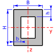 cross sectional area of a rectangle-pipe